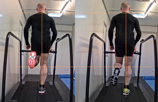 Laufband-Analyse Vergleich von verschiedenen Laufschuhen