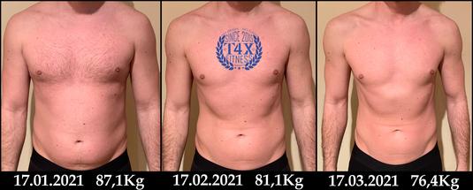 Er hat seinen Körper erfolgreich definiert Nun ist er 10kg leichter, glücklich und bereit für den Sommer