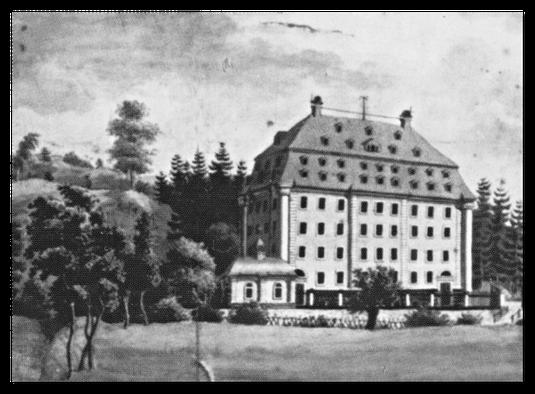 Spinnmühle der Gebr. Schnabel um 1810 / Quelle: Verlag Heimatland Sachsen