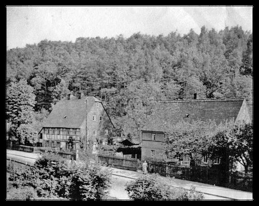 Erfenschlager Straße 183 und 185. Ansicht aus 1938 / Quelle: Hr. Legler
