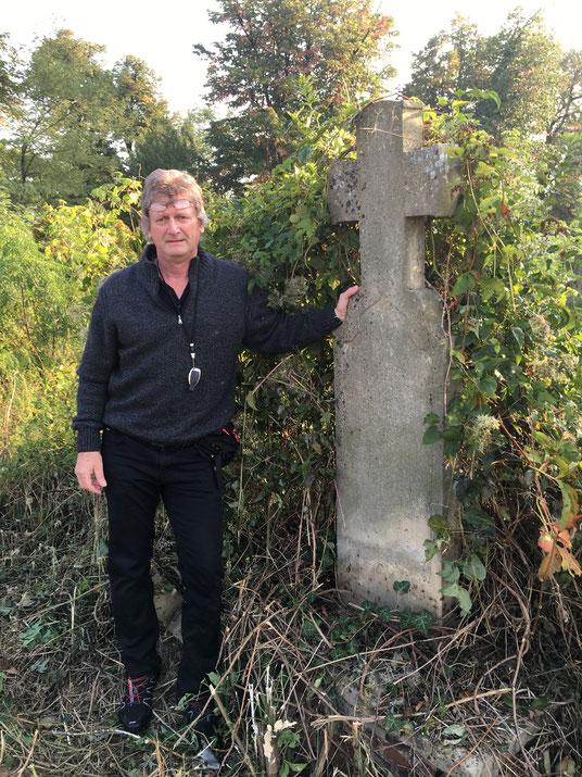 Grab von Georg Geringer 1788-1852 am Weißkirchner Friedhof / Sohn des Auswanderers Josef Geringer Simonswald im Schwarzwald  GPS: 44.896030, 21.425663 / Klicken Sie auf das Bild um es direkt auf Googlemaps anzuzeigen