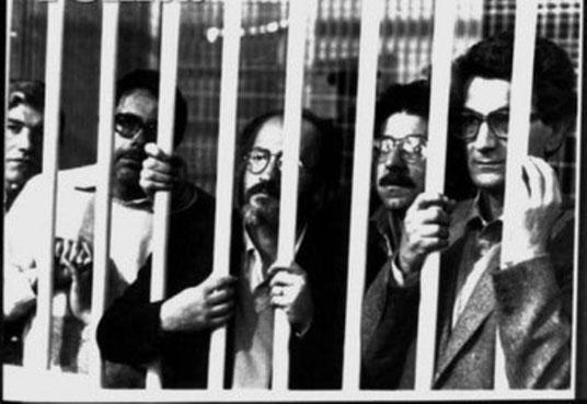 Fængslede autonome, yderst til højre Antonio Negri
