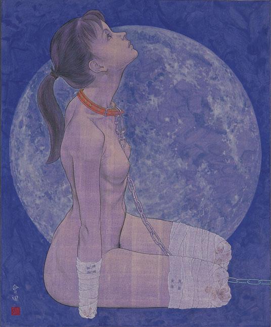 会田誠《犬(月)》1996年。MIZUMA ART GALLERYより。