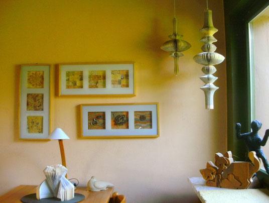 Auftragsarbeit:  hängende Installationen (Foto privat  von Kundin)