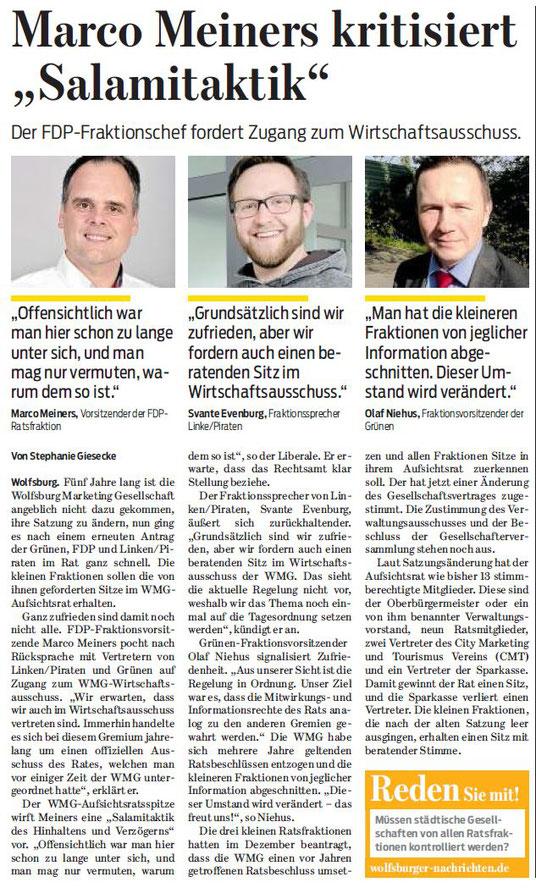 Wolfsburger Nachrichten, 09.03.17