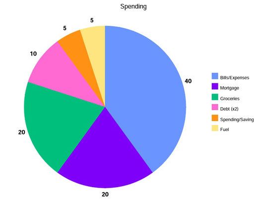 spending percentages, income breakdown, the domestic economy, budget help,