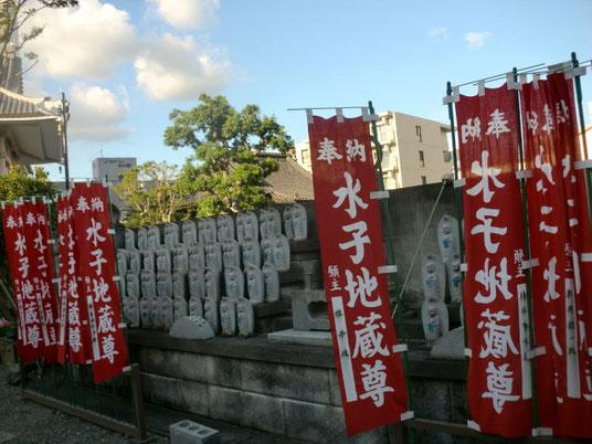 ウォーキングコースはお寺の敷地内にも。