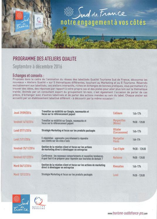 Atelier qualité Sud de France