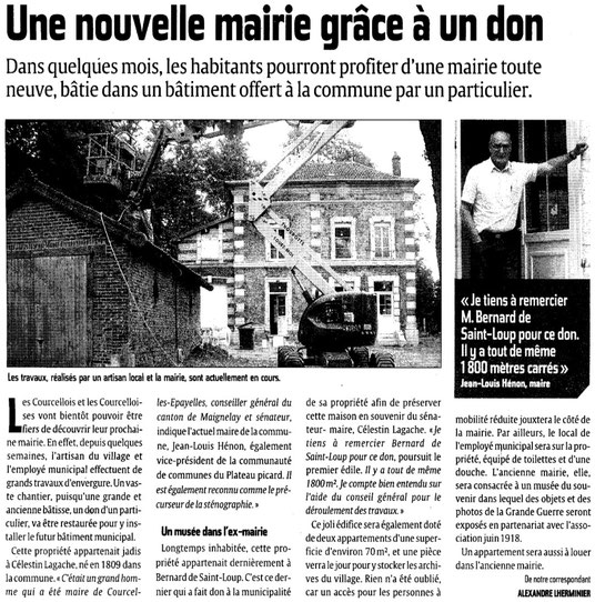Le Courrier picard 11 septembre 2012
