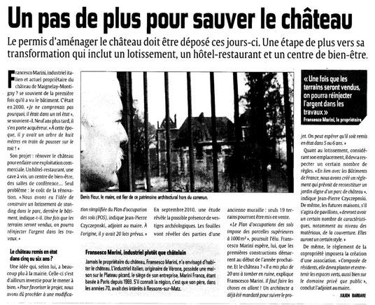 Le Courrier picard du 3 mars 2012
