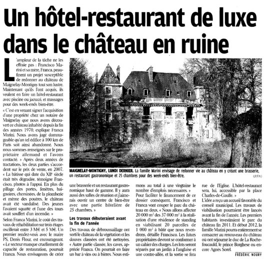 Le Parisien du 24 mars 2010