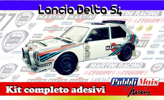price cost kit complete stickers decals sponsor lancia delta s4 martini online shop pubblimais