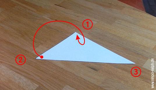 Tutorial Papiertrichter Bild 5