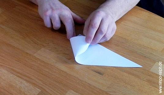 Tutorial Papiertrichter Bild 6