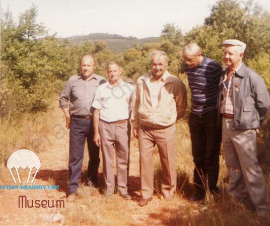 1984, Vins.  Zè, Sylvain, César, Gaby et Ficelle les freres d'armes du SAP Vermicel