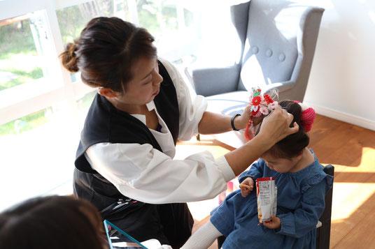七五三 和髪 日本髪 3歳 colobockle コロボックル 横浜