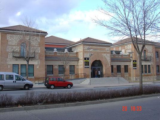 Detalle del centro de la fachada