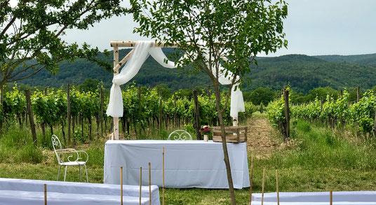 Hochzeit und Freie Trauung in Keller's Keller in Ruppertsberg in der schönen Pfalz.