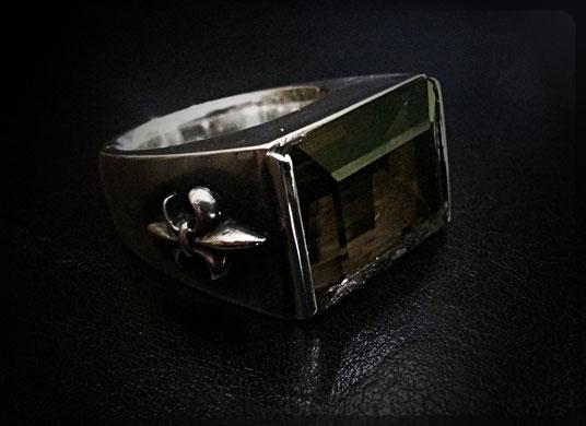 Ring Silber mit Rauchquartz