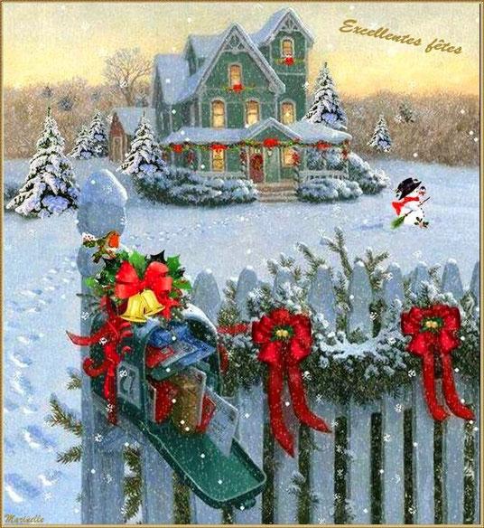 Maison décorée, excellentes fêtes