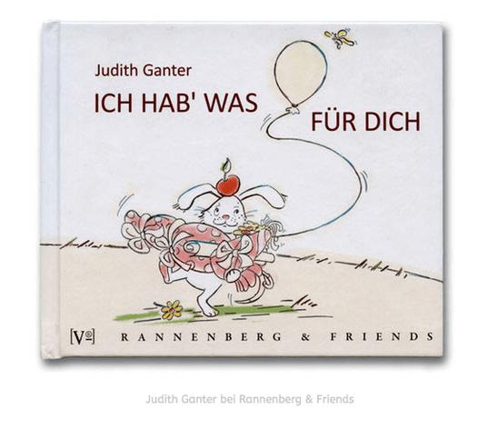 Schwer bepackter kleiner Hase auf dem Weg zum Geburtstagskind - Text und Illustration Judith Ganter - Verlag Rannenberg & Friends