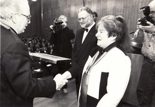 Award ceremony of the Culture Prize of the Baden Community Foundation in Solingen, 1992