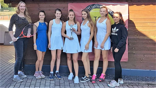 Es spielten (von links nach rechts): Anna-Maria Blömer, Julia Niehaus, Jette Hafermann, Emma Wessels, Linda Haag, Linda Garvels, Lara Srur und Laura Modrok (nicht auf dem Foto)
