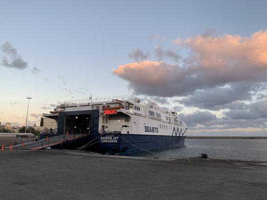 Griechenland, Kreta, Sehenswürdigkeit, Reisebericht, highlight, Urlaub, Heraklino, Santorin, Fähre, Autofähre, Hafen,