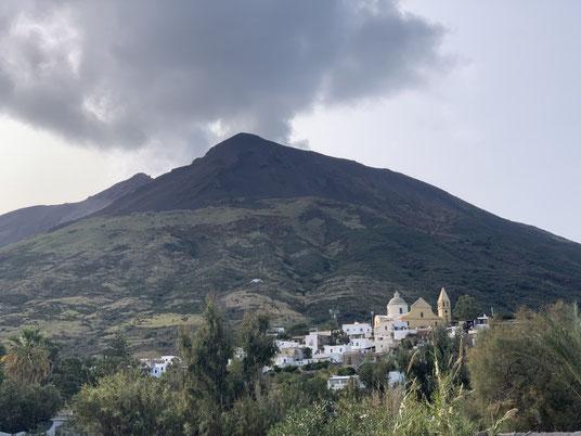 Italien, Sizilien, Liparische Inseln, Äolische, Stromboli, Sehenswürdigkeit, Vulkan, Chiesa di San Vincenzo
