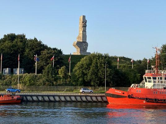 Danzig, Denkmal, Westerplatte, Hafenrundfahrt, Schifffahrt