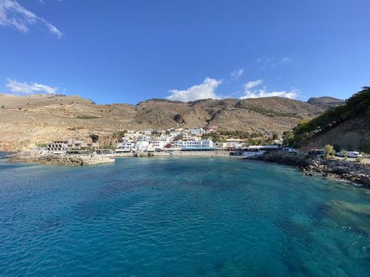 Kreta, Chora Sfakion, Schlucht Imbros, Fähre, Gavdos, Hafen