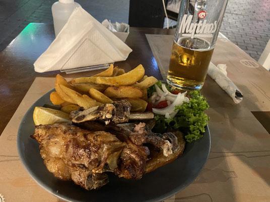 Kreta, griechisches Gericht, Lammrippchen, Mythos, Bier