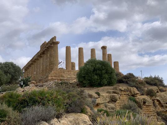 Italien, Sizilien, Sehenswürdigkeit, Agrigento, Valle dei Templi, Tal der Tempel, Ausgrabungsstätte, Antike, Junotempel