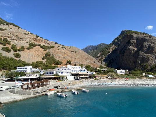 Kreta, Agia Roumeli, Samaria, Schlucht, Fähre