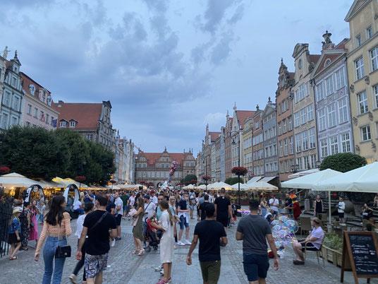 Langer Markt in Danzig, Rechtstatdt, Grünes Tor, Fußgängerzone