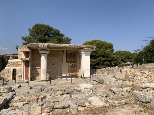Griechenland, Kreta, Sehenswürdigkeit, Reisebericht, highlight, Urlaub, Heraklion, Knossos, Palast, Ausgrabung