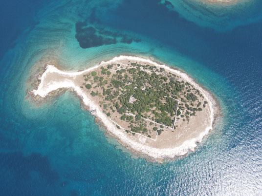 Brijuni Inseln, Gaz Otok, Fisch Insel