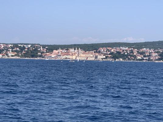 die Stadt Krk auf der gleichnamiger Insel