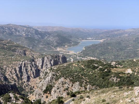 Griechenland, Kreta, Sehenswürdigkeit, Reisebericht, highlight, Urlaub, Ambelos, Pass, Stausee, See, Schlucht, Krasion