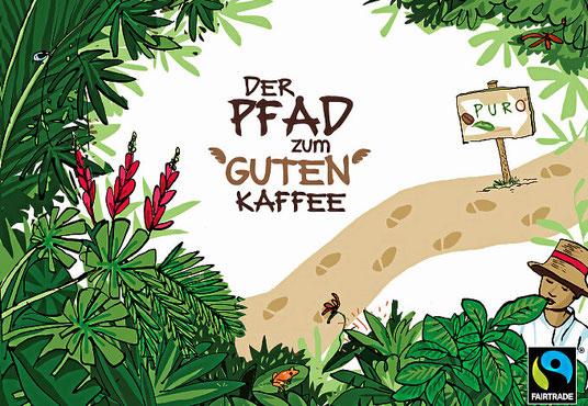 Biokaffee von Puro. Mit möglichst wiederverwertbaren Packungen.