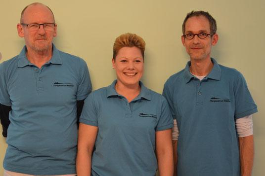 Lymphcoaches: Klaus Waldvogel, Stephanie Emter und Wilke Fahlbusch