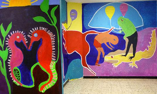 Malprojekte, Kunstprojekte, Workshops an Schulen NRW