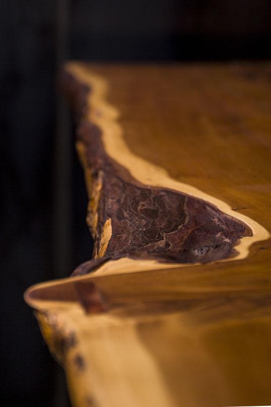 Nahaufnahme Holz für Bank