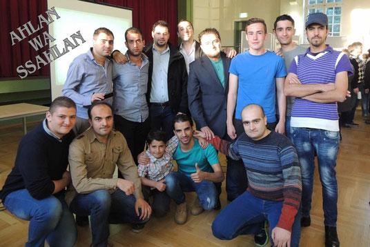 Vielen Dank sagten die Syrer