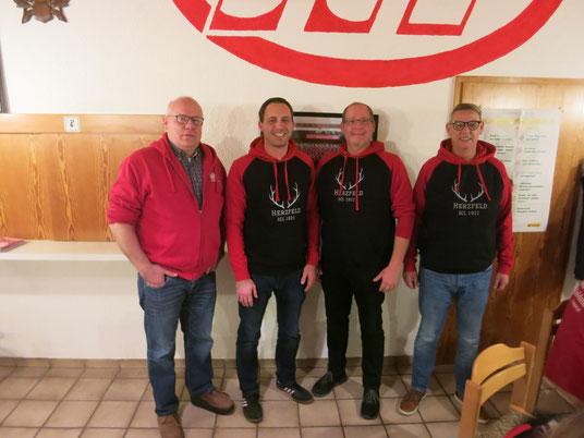 Foto v.l.n.r.: Jürgen Sickau, Nicky Schwartze, Martin Stockhofe, Dirk Böhnke (Geschäftsführer)