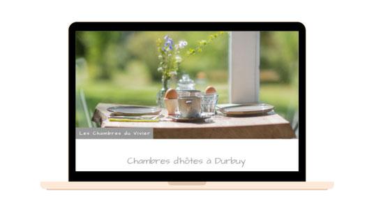 C-Caro.be - Réalisation du site web des chambres d'hôtes Les Chambres du Vivier à Durbuy