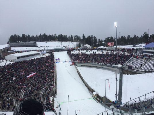 Blick von der Skisprungschanze Holmenkollen