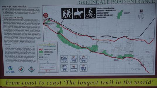 Der Cowichan Valley Trail als Teil des Trans Canada Trail