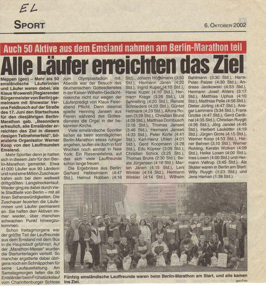 zeitungsberichte lauffreundeemsland