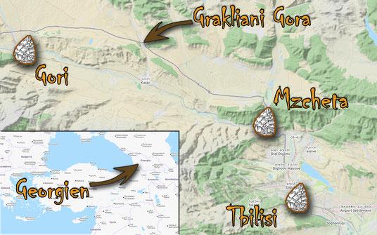 Falls sich noch jemand fragt, wo denn Georgien eigentlich liegt. Anklicken zum Vergrößern.